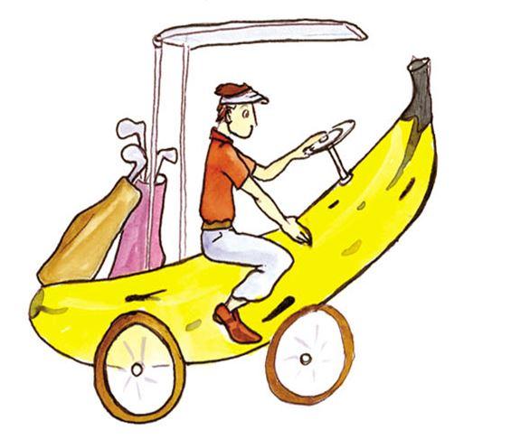 La banane, fruit préféré du golfeur